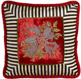 Mackenzie Childs MacKenzie-Childs Red Evergreen Pillow
