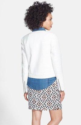 Halogen Sequin Patterned Miniskirt