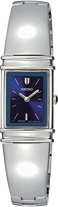 Seiko Women's SUJG09 Jewelry Silver-Tone Bangle Blue Dial Watch $250 thestylecure.com