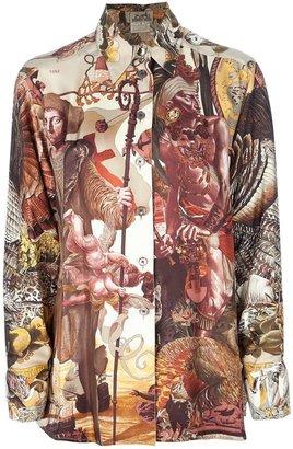Hermes Vintage peasant print shirt
