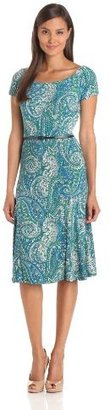 Jones New York Women's Raglan Sleeve Paisley Dress