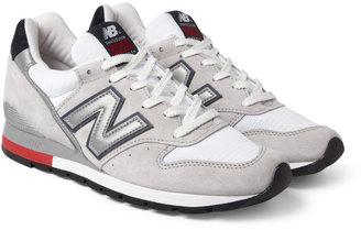 New Balance 996 Nubuck and Mesh Sneakers