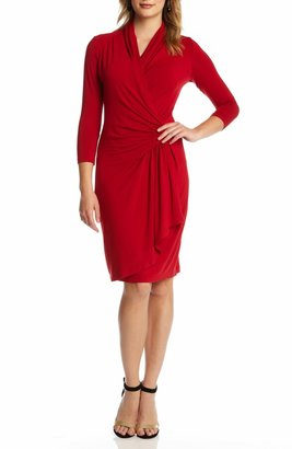Karen Kane Cascade Faux Wrap Dress