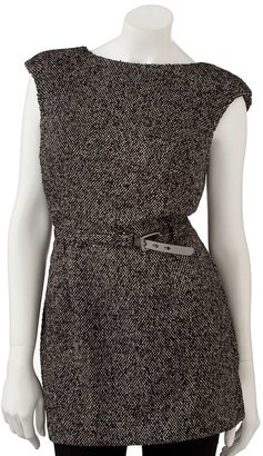JLO by Jennifer Lopez lurex tweed tunic