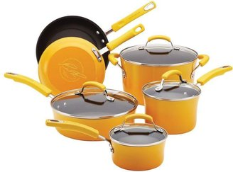 Rachael Ray Porcelain II 10-Piece Cookware Set in Yellow