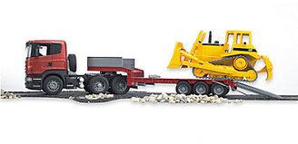 Bruder Toys SCANIA R-Series Low Loader Truck & Bulldozer