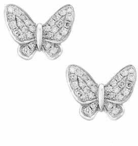Effy 14K White Gold Earrings with 0.15 TCW Diamonds