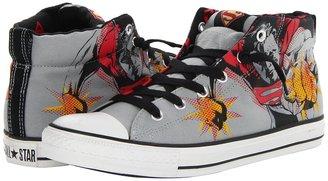 Converse Chuck Taylor All Star Street Mid - DC Comics (Limestone/Varsity Red/Cyber Yellow) - Footwear