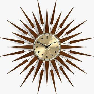 Newgate Clocks Pluto Wall Clock, Dia.65cm, Brown
