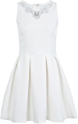 Miss Selfridge Necklace trim skater dress
