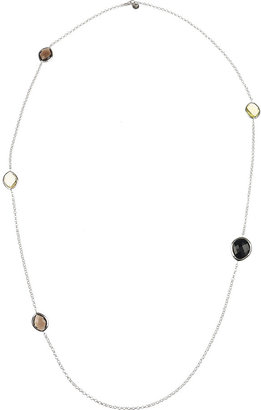 Monica Vinader Nugget sterling silver, onyx and quartz necklace