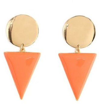 Charlotte Russe Enamel Triangle Dangle Earrings