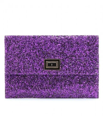 Anya Hindmarch VALORIE PRESSED GLITTER CLUTCH