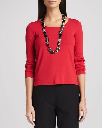 Eileen Fisher Jersey Long-Sleeve Tee