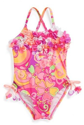 Hula Star 'Fantasia' One-Piece Swimsuit (Toddler Girls)
