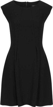 Topshop Crepe seam detail flippy dress