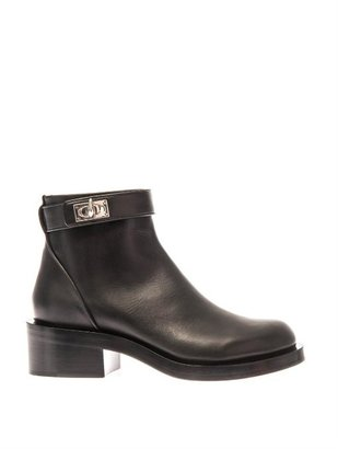 Givenchy Shark-lock leather ankle boots