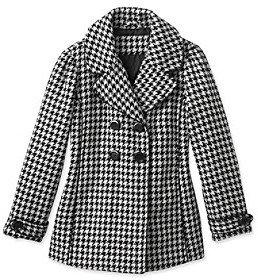 Hawke & Co Hawke Co Girls' 7-16 Black/White Houndstooth Printed Coat