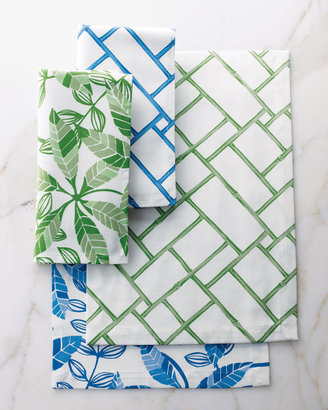 "Matouk Lulu DK for Bamboo Lattice"" & ""Leaf"" Table Linens"