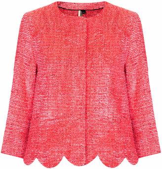 Topshop Fringe scallop jacket