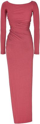 Donna Karan Desert Rose Draped Jersey Gown