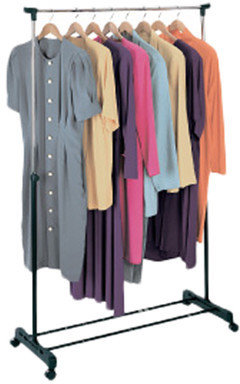 Richard's Homewares Richards Homewares Free Standing Storage Rolling Garment Rack Clothes Hanger