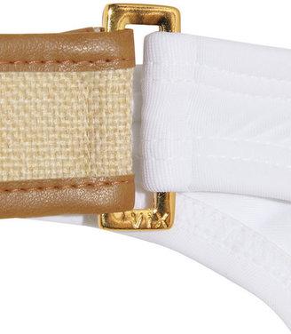 Vix Swimwear Vix Solid faux leather and canvas-detailed bikini briefs