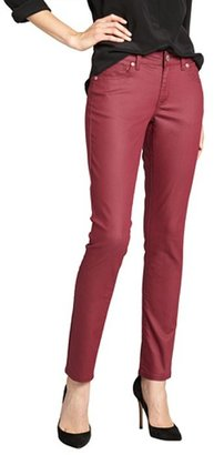 Romeo & Juliet Couture cordovan stretch coated denim straight leg jeans