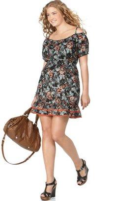 American Rag Plus Size Dress, Off-the-Shoulder Printed Peasant
