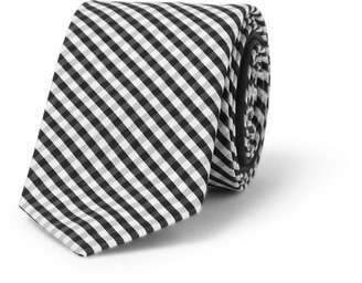 Burberry Slim Gingham Check Cotton Tie