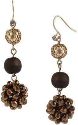 Kenneth Cole NEW YORK Multi Bead Triple Drop Earring