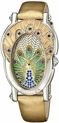 Brillier Women's 19-01 Gd Royal Plume Analog Display Swiss Quartz Watch