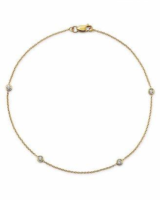 Bloomingdale's Diamond Bezel Ankle Bracelet in 14K Yellow Gold, .20 ct. t.w. - 100% Exclusive