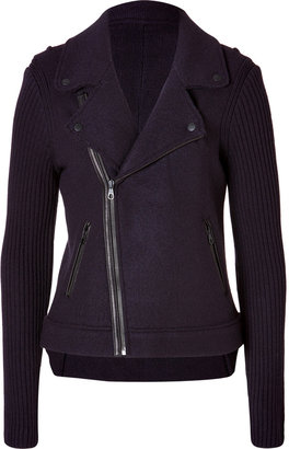 Rag and Bone Rag & Bone Wool Jenna Moto Jacket in Eggplant