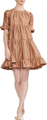 Cynthia Rowley Penelope Short Tiered Ruffle Dress
