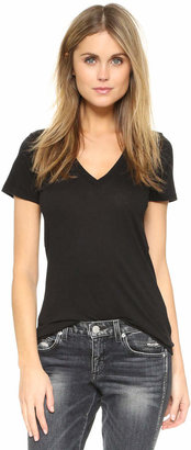 Splendid Very Light Jersey V Neck Tee $48 thestylecure.com