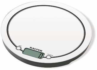 Salter Mono Digital Kitchen Scales – Electronic Food Weighing, Touch Sensitive Cooking Baking Scale Home Appliance, Add & Weigh Metric + Imperial, Compact Storage, Easy Clean, 15 Year Guarantee