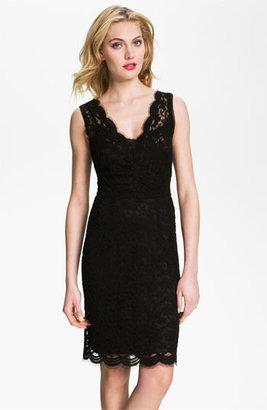 Calvin Klein V-Neck Lace Sheath Dress