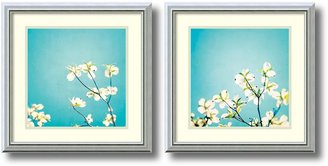 Amanti Art ''Delicate Skies of Blue'' Floral 2-piece Framed Wall Art Set