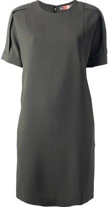MSGM round neck shift dress