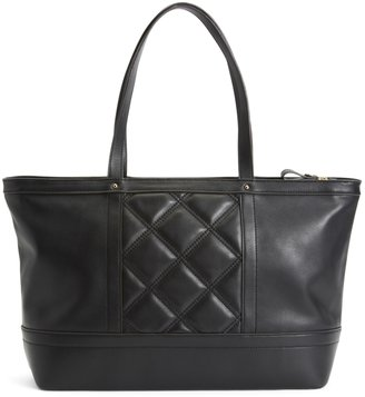 Brooks Brothers Quilted Calfskin Large Tote