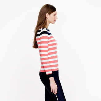 J.Crew Collection featherweight cashmere Tippi sweater in colorblock stripe
