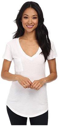 LAmade V-Pocket Tee - Tissue Jersey (White) Women's Short Sleeve Pullover