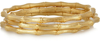 Kenneth Jay Lane Set of three gold-plated bangles