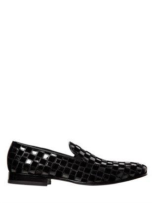 Patent & Velvet Patchwork Loafers