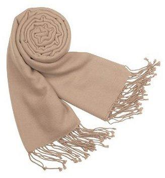 Forzieri Solid Pashmina & Silk Fringed Shawl