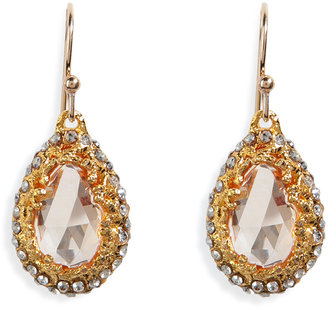 Alexis Bittar Floral Cz Tiny Tear Earrings in Champagne