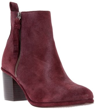 Opening Ceremony suede chunky heel ankle boot