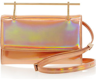 Fabricca holographic leather clutch