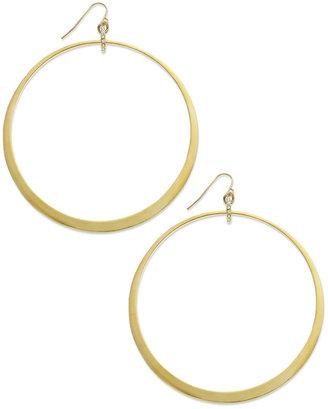 ABS by Allen Schwartz Earrings, Gold-Tone Large Hoop Earrings